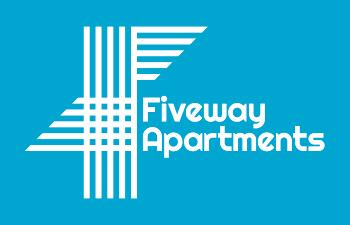 fiveway apartments blue logo